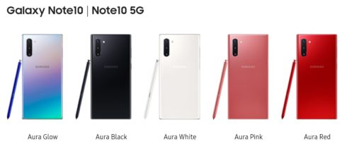 SamsungがGalaxy Note 10|Note 10+ を発表、Galaxy Note8、Galaxy S10e/S10/S10+/S10 5G と比較してみた