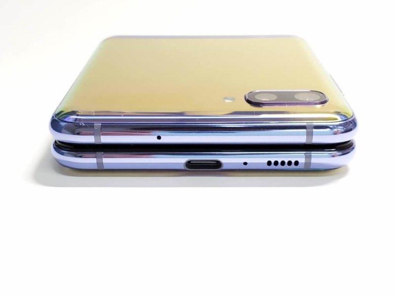 Galaxy Z Flip 側面
