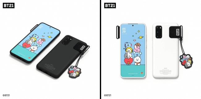 キャラクターテーマに自動的に着せ替え 「BT21 Smart Cover」