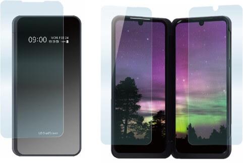 極薄保護ガラス&ガラスコーティングフィルム(2枚)セット for LG V60 ThinQ 5G