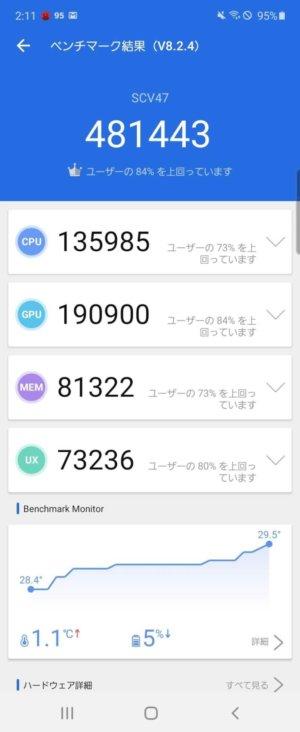 Galaxy Z Flip AnTuTuベンチマーク