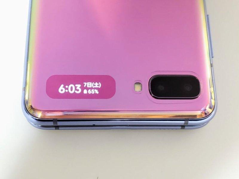 Galaxy Z Flip サブディスプレイ