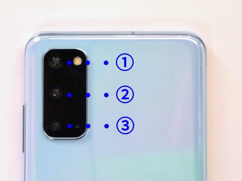 Galaxy S20 5G カメラ 構成